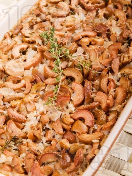 Печен ориз с маслини и мащерка на фурна - снимка на рецептата